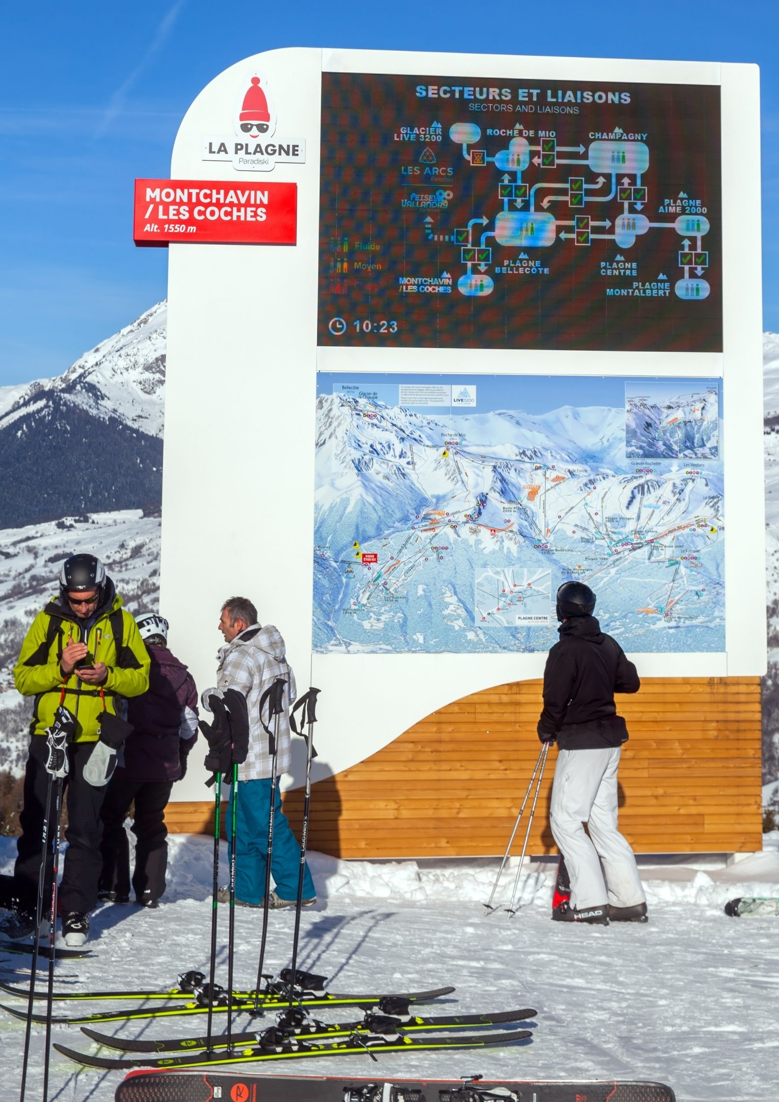 Digital Signage in Ski Resort