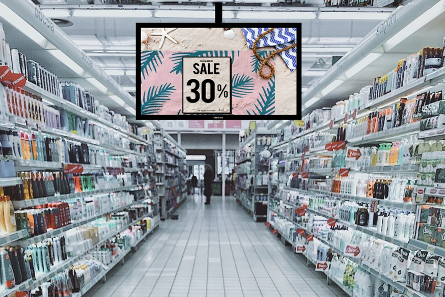 Digital Signage Content in the Supermarket